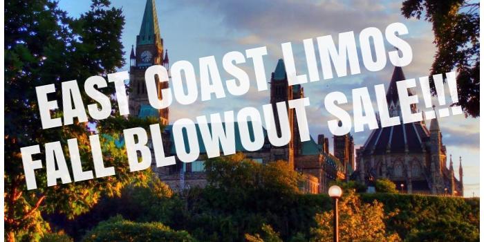 East Coast Limos Fall Blowout Sale!!!