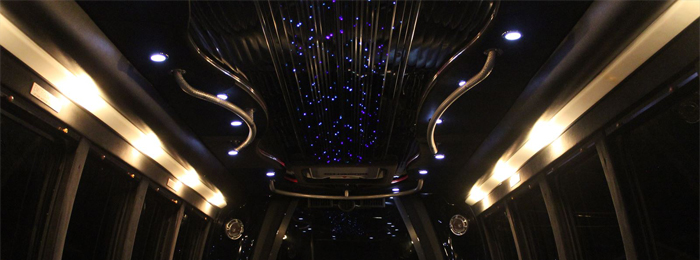 Interior Ford E 450 lighting Night