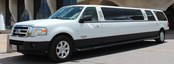 Outside of Ford Expedition 12-14 passenger SUV limo